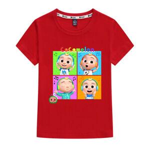 Kids Boys Girl Short Sleeve CocoMelon Cartoon T-Shirt Summer Children Unisex Top