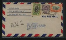 Thailand airmail cover to Us Kel0412