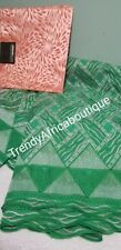 Free Gele with purchase of African Embroidered Swiss Lace fabric. 5yds + Gele