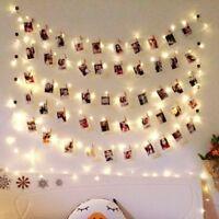 New Led Light Photo Clip Fairy String Christmas Garland Wedding Party Home Decor