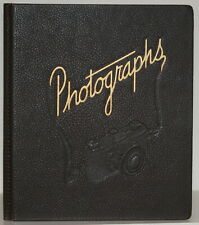 Old Cameras Mid Century Camera Embossed Photographs Album Eagle Line National
