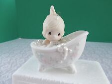 """1987 Precious Moments Ornament - """" He Cleansed My Soul"""" #112380"""