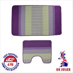 Bath Mat Set pack of 2, Non, Anti Slip, Soft, Made in Turkey -Star