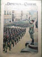 La Domenica del Corriere 24 Settembre 1933 Mussolini Ambrogio Vescovo Salisburgo