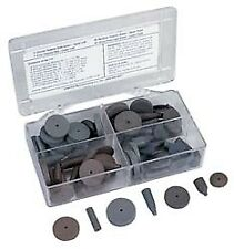 Cratex 76 Piece Rubber Abrasive Point Set Includes 8 Tapered Edge Wheels, 24 ...