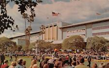CA, California  SANTA ANITA RACETRACK Walking Ring & Track  TWO Chrome Postcards