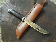 Knife  HELLE BOWIE  NORWAY   Vintage  hunting   Messer  Couteau