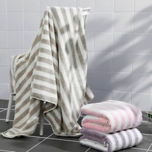 Bath Towel Coral Velvet Plain Home Textile Adult Soft Absobent Microfiber Fabric