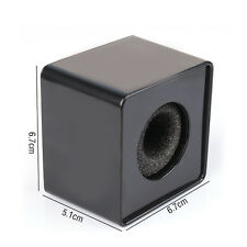 Black 39mm New Handheld Mic Microphone Interview Square Cube Flag Station ABS