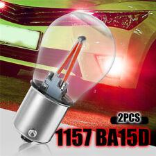 2x 1157 BAY15D DC 12V Red COB LED Bulb Tail Car Reverse Backup Brake Light Lamp
