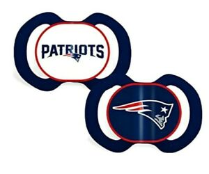 NFL New England Patriots Baby Fanatic 2-Piece Orthodontic Pacifier Set 3+ Months