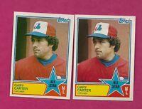 2 X 1983 TOPPS # 404 EXPOS GARY CARTER AS NRMT-MT CARD (INV# A4237)