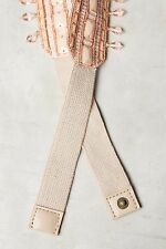 NWT ANTHROPOLOGIE Beaded Briar Belt in Champagne - M, L, Black - XS, S, L Lovely