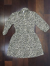 Cherokee Girls Animal Print Long Sleeve Dress Size Large 10/12