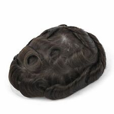 GEX Toupee Mens Hairpiece Bella Basement Wig Human Remy Hair Replacement Systems 2#