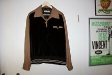1950'S TWO TONE GAUCHO SHIRT  PULLOVER ROCKABILLY, VLV. VTG (LARGE)  HEPCAT