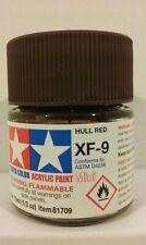 Tamiya acrylic paint XF-9 Hull red. 10ml Mini.