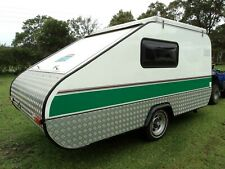 Teardrop Caravan Vintage Style Camper Trailer SOLAR,LARGE FRIDGE,LARGE INSIDE
