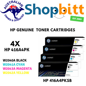 Genuine HP 416A BK/C/M/Y Toner Cartridge for LaserJet M479fdw/M479dn/M454dw