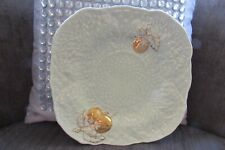 Crown Devon Scalloped 7.5 inch Mint Green Embossed Plate with Gold Cherries
