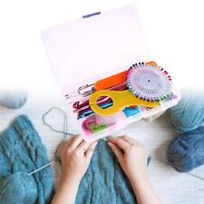 73PCS Set Crochet Hooks Knitting Needles Stitches Case Craft Tools Kit 14 Size