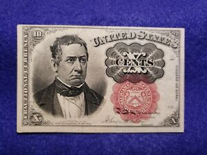 1874 10¢ Fractional Currency Note - 5th Issue Meredith - L@@K in UNC condition