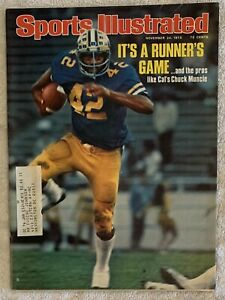 11.24.75 CHUCK MUNCIE Sports Illustrated - CAL GOLDEN BEARS - Vintage Print Ads