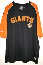SAN FRANCISCO GIANTS STITCHES XL MENS ORANGE AND BLACK PULLOVER JERSEY SHIRT
