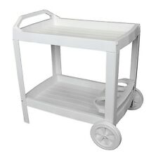 Servierwagen Getränkewagen Rollwagen Beistellwagen Kunststoff Weiß