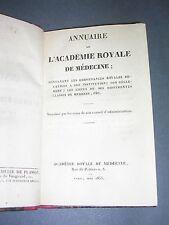 Académie royale de médecine Annauire de l'académie royale de médecine pour 1835