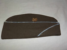 VINTAGE WWII US ARMY WOOL GARRISON CAP HAT with ENGINEERS INSIGNIA