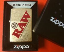 RAW cigarette rolling papers brand ZIPPO GOLD DUST BOXED LIGHTER nib unused new