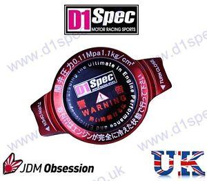 D1 SPEC RACING RADIATOR CAP 1.1kg/cm RED SMALL HEAD JDM DRIFT nitroXukimport