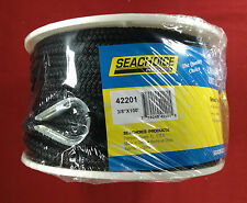 "ANCHOR LINE 3/8"" X 100' BRAIDED NYLON BLACK SEACHOICE 42201"