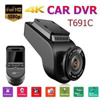 T691C 2Inch 4K 2160P Dash Cam 170Degree Lens Car DVR Camera Recorder Single Lens
