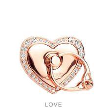 Universal 360 Rotating Finger Ring Stand Holder for Cell Phone Rose Gold Heart