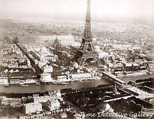 Aerial View of Paris, France - 1889 - Historic Photo Print