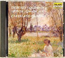 TELARC JAPAN 1986 NO UPC Debussy Ravel CLEVELAND QUARTET CD-80111