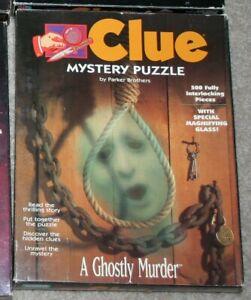 1992 CLUE MYSTERY PUZZLE *A Ghostly Murder* Milton Bradley 500 pc. EUC