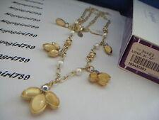Lia Sophia Lotus Necklace RV $98 NIB
