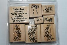 "Stampin Up All Season Wreath set of 8 ""Retired"" Kindness, Holly, Flowers, Leaves"