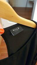 Vila top en negro L haut Oberteil camiccia Blogger chic Fashionista 40