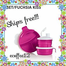 tupperware baby stages feeding set, divided dish, feeding cup, formula dispenser