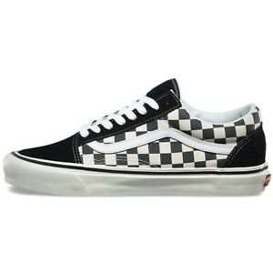 VAN S Old Skool Classic OS Checkerboard Canvas Skater Running Sneakers Trainers