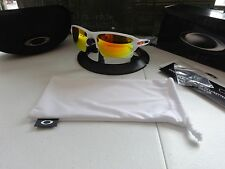 Oakley Flak 2.0 XL Team Color Polished White Fire Iridium NIB RARE