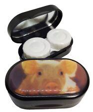 Espejo De Estilo Clásico Estuche Lentes De Contacto remojo Estuche Reino Unido hizo-lindo cerdo