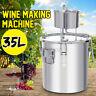 35L Alcohol Distiller Wine Maker Stainless Steel Still Moonshine Home Brew Kit