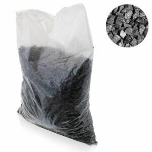 BITUXX Schwarzer Basalt Zierkies Bodengrund für Aquarium Terrarium 2-7 mm