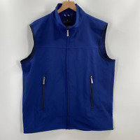Brooks Brothers Mens Blue Full Zip Mock Neck Insulated Vest Size XL