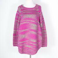 Calypso St. Barth Pink Alpaca Blend Round Hem Tunic Sweater Small